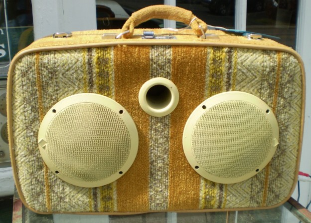 Gold Mohair Sonic Suitcase Speaker