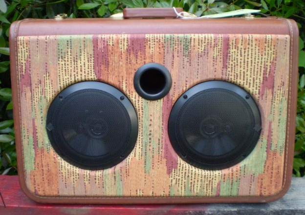 Burnt Brown Matrix Sonic Suitcase Speaker