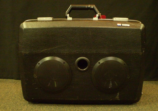 Black Back in Black Sonic Suitcase Speaker