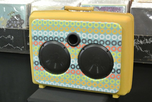 Yellow Record Sonic Suitcase Speaker