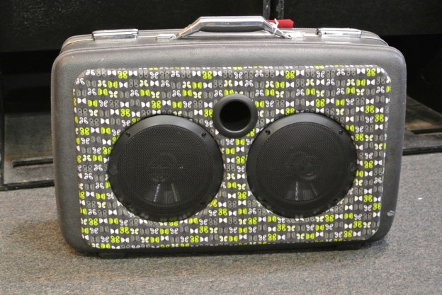 Grey Butterfly Sonic Suitcase Speaker
