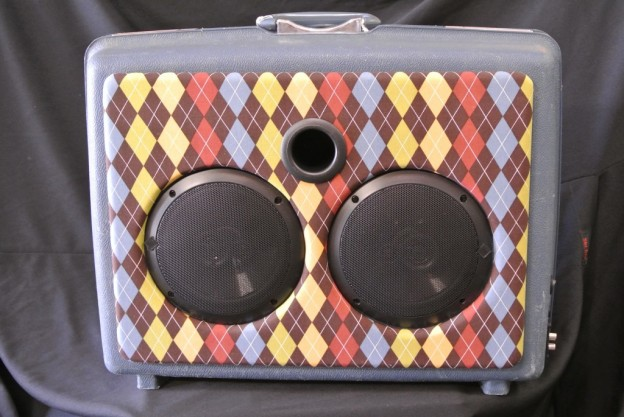 Blue Cardigan Sonic Suitcase Speaker