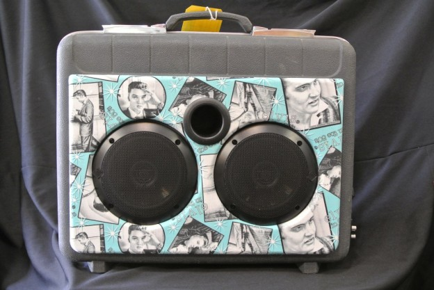 Grey Elvis Sonic Suitcase Speaker