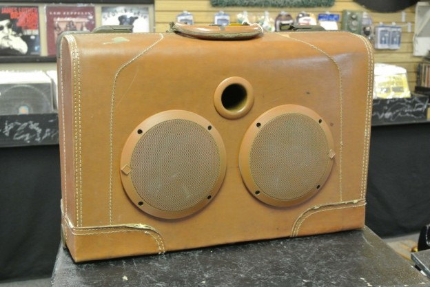 Tan Isaac Sonic Suitcase Speaker