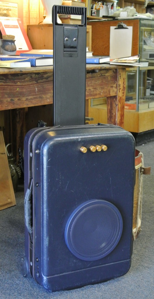 Blue Wheel Guitar Suitcase