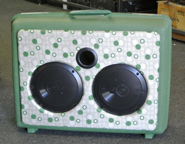 Green Explosions in the Sky Sonic Suitcase Speaker