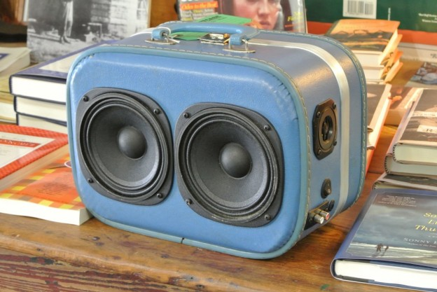 Blue Moody Blues Sonic Suitcase Speaker