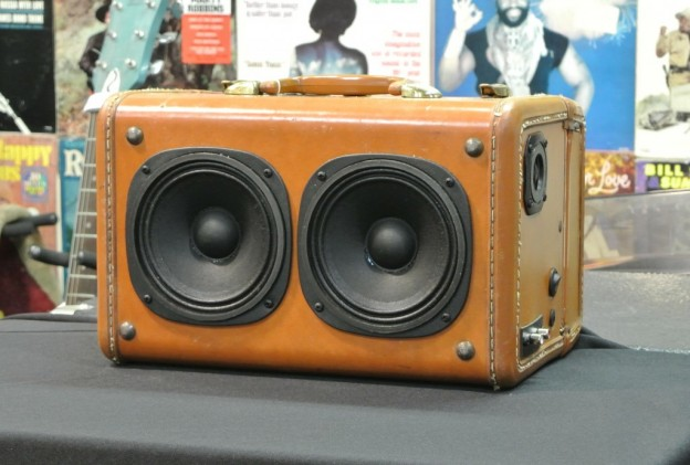 Tan Mercyland Sonic Suitcase Speaker