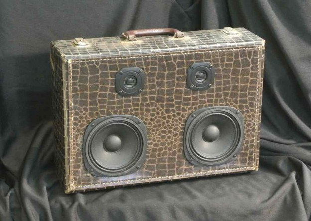 Brown Swamp Pop Sonic Suitcase Speaker