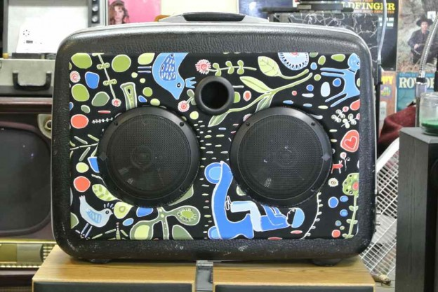 Black Folk Implosion Sonic Suitcase Speaker
