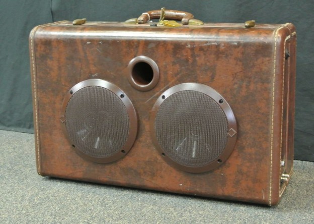 Brown Marble Index Sonic Suitcase Speaker