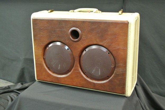 White Leather Nun Sonic Suitcase Speaker
