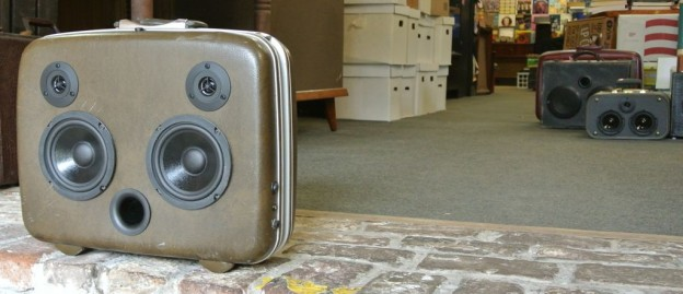 Brown Desi Sonic Suitcase Speaker