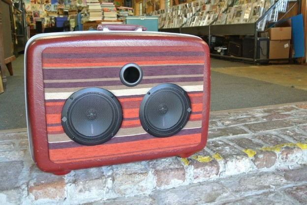 Maroon Good Times Sonic Suitcase Speaker