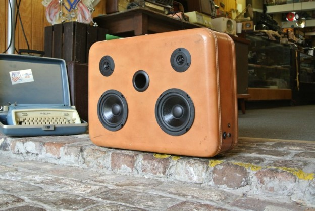 Tan Document Sonic Suitcase Speaker