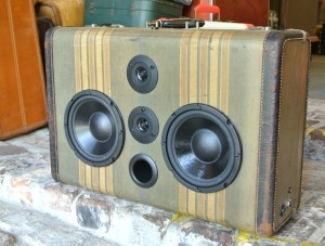 Tweed Tension Sonic Suitcase Boombox