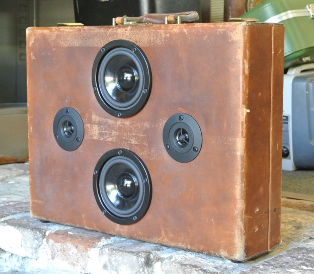 Brown Demi Sonic Suitcase Boombox
