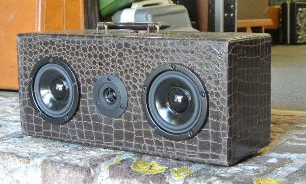 Brown Amoeba Sonic Suitcase Boombox