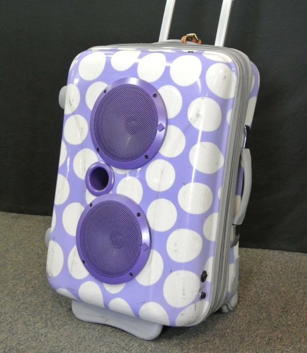 Purple Polka Dot Sonic Suitcase Boombox