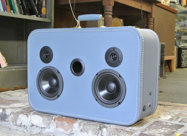 Blue Molly Sonic Suitcase Boombox
