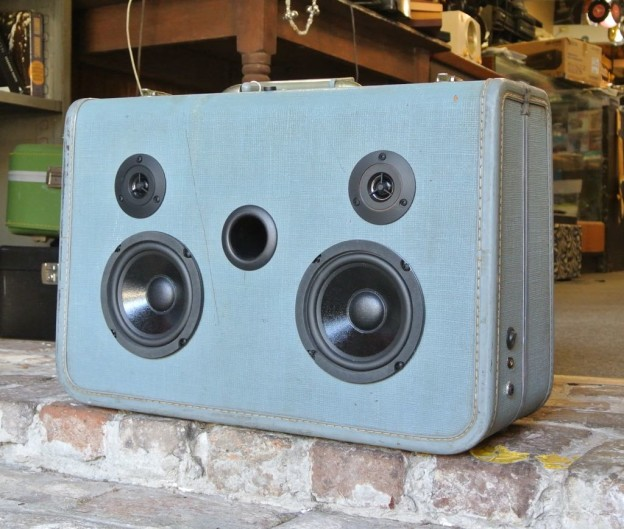 Blue Salvage Sonic Suitcase Boombox