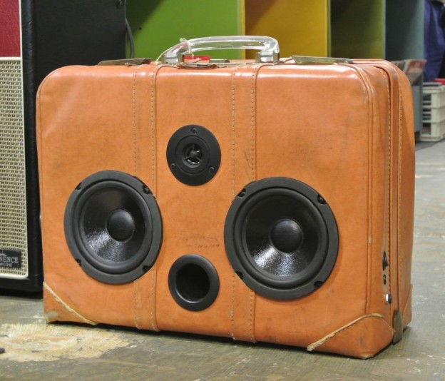 Tan Hare Sonic Suitcase Boombox