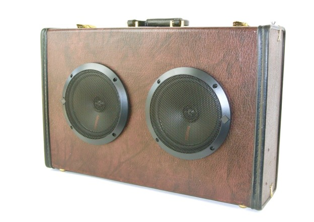 Brown Bring Suitcase Boombox