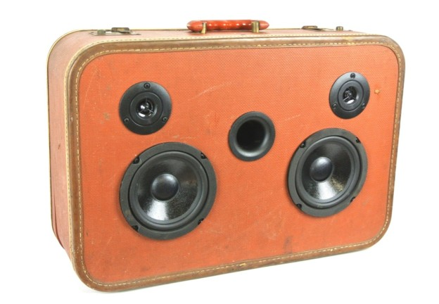 Maroon World Suitcase Boombox
